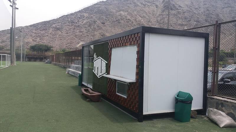 Alquimodul modulos prefabricados tipo kiosco estadio for Kioscos prefabricados