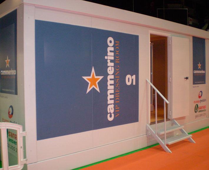 EUROPA PREFABRI- Camerino prefabricado para eventos o rodajes.