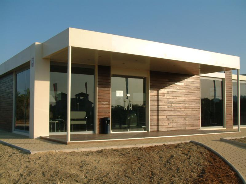 Alquimodul edificios modulares prefabricados en peru for Construccion de oficinas modulares