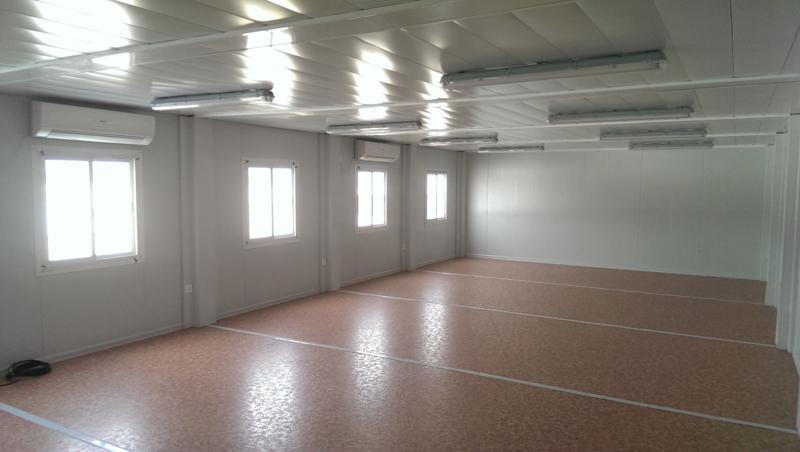 Alquimodul construccion de campamento prefabricado modular for Construccion de oficinas modulares