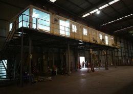 Oficinas modulares nave industrial