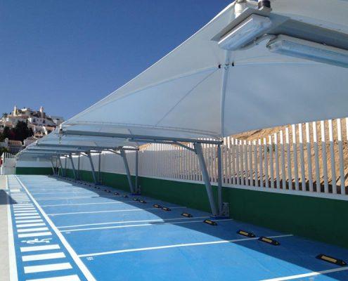 ALQUIMODUL - Coberturas textiles estacionamiento