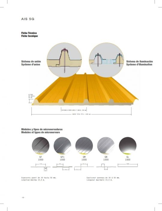 Montaje de coberturas en panel termoaislante